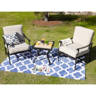 Straley 3 Piece Seating Group with Cushions by Charlton Home