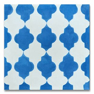 Tafraout 8 X Handmade Cement Tile In Blue White