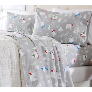 Extra Soft Printed Flannel 100% Turkish Cotton Sheet Set
