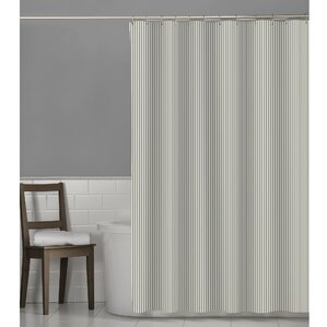 Striped Shower Curtains Youll Love Wayfair - Gray and white striped shower curtain