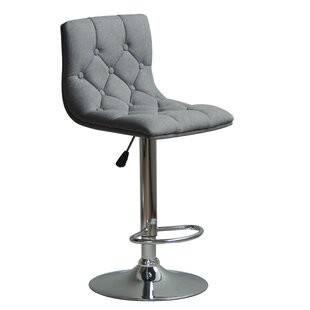 Hurtt Adjustable Height Swivel Bar Stool (Set of 2) Orren Ellis