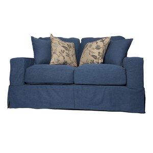 Oxalis Box Cushion Loveseat Slipcover Set