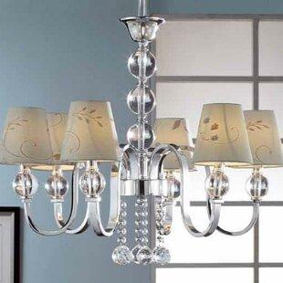 OK Lighting 6-Light Shaded Chandelier