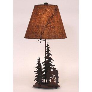 Cowboy at Campfire 25.5 Table Lamp