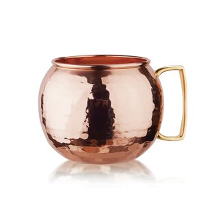 32 Oz. Hammered Solid Globe Moscow Mule Mug (Set of 4)