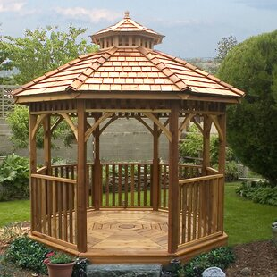 Bayside 10 Ft. W X 10 Ft. D Cedar Patio Gazebo By Outdoor Living Today