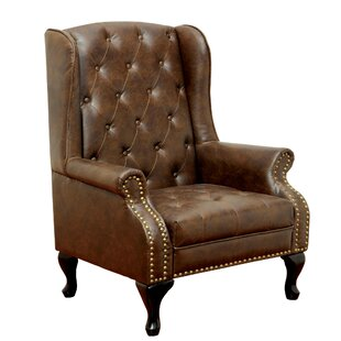 Halvorson Wingback Chair by Fleur De Lis Living