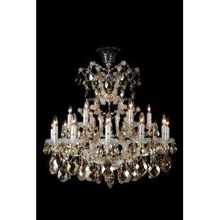 Michael Amini La Scala 19-Light Candle Style Chandelier