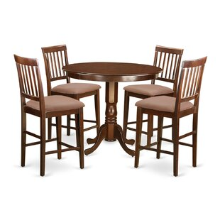 Trenton 5 piece Counter Height Solid Wood Dinning Set