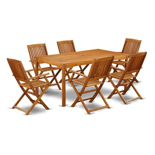 Justyn 7 Piece Patio Dining Set