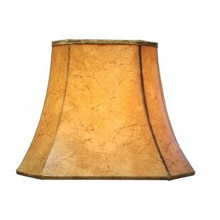 Cut Corner 16 Faux Leather Bell Lamp Shade