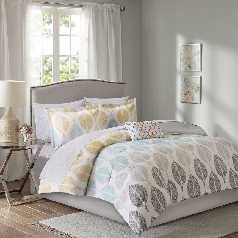 Wrought Studio Utterback Park Complete Comforter and Cotton Sheet ...