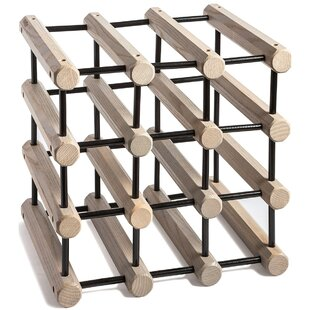 Storage 12 Bottle Tabletop Wine Rack by J..