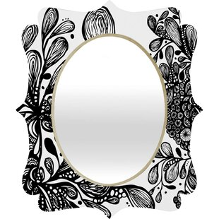 Deny Designs Julia Da Rocha Wild Leaves Quatrefoil Accent Mirror