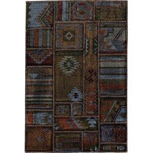 Roney Handmade Kilim Wool Brown/Orange Rug by Brick & Barrow
