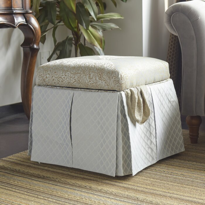 Pleasing Stacy Square Storage Vanity Stool Gmtry Best Dining Table And Chair Ideas Images Gmtryco