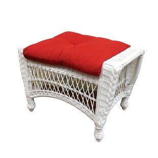 August Grove Camacho Ottoman with Cushion