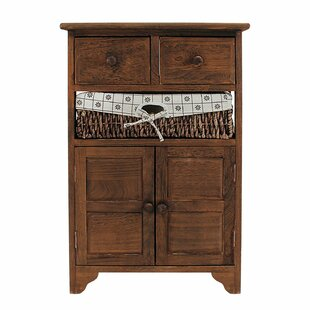 Charlton Home Alicea Natural 2 Drawer Accent Cabinet