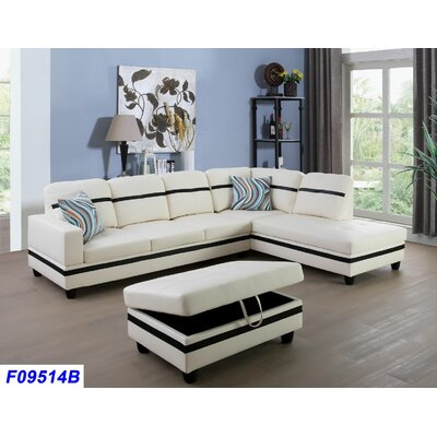 Admirable Andover Mills Russ Sectional With Ottoman Orientation Right Alphanode Cool Chair Designs And Ideas Alphanodeonline