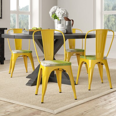 Isabel Dining Chair Laurel Foundry Modern Farmhouse Seat Finish Pine Alice Frame Finish Yellow