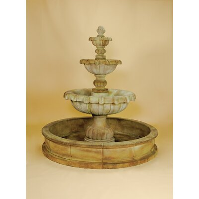 Vistamar Concrete 3 Tier Pond Fountain Giannini Garden Ornaments
