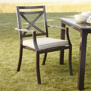 Birch Lane™ Endicott Stacking Patio Dining Chair with Cushion