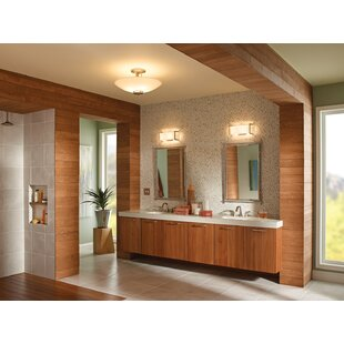 Crescent View 2-Light Bath Bar By Kichler Wall Lights