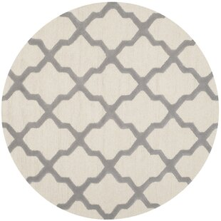 Mahoney Hand-Tufted Wool Ivory Area Rug by Winston Porter