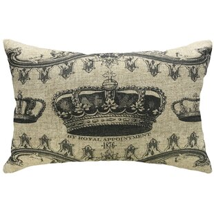 Rafael Decorative Crown Linen Lumbar Pillow