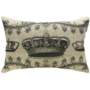 Rafael Decorative Crown Linen Lumbar Pillow