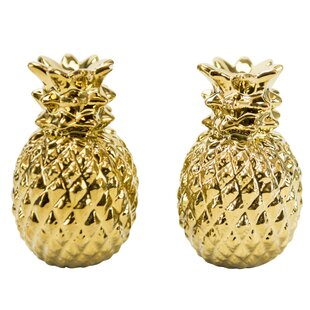 Pineapple 2 Piece Salt and Pepper Shakers Set
