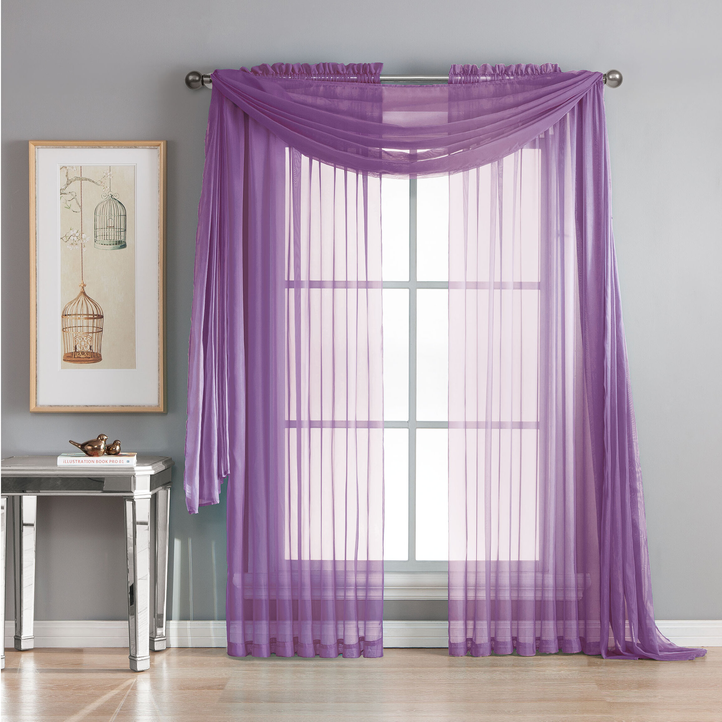 Idlewild Extra Wide Voile Solid Sheer