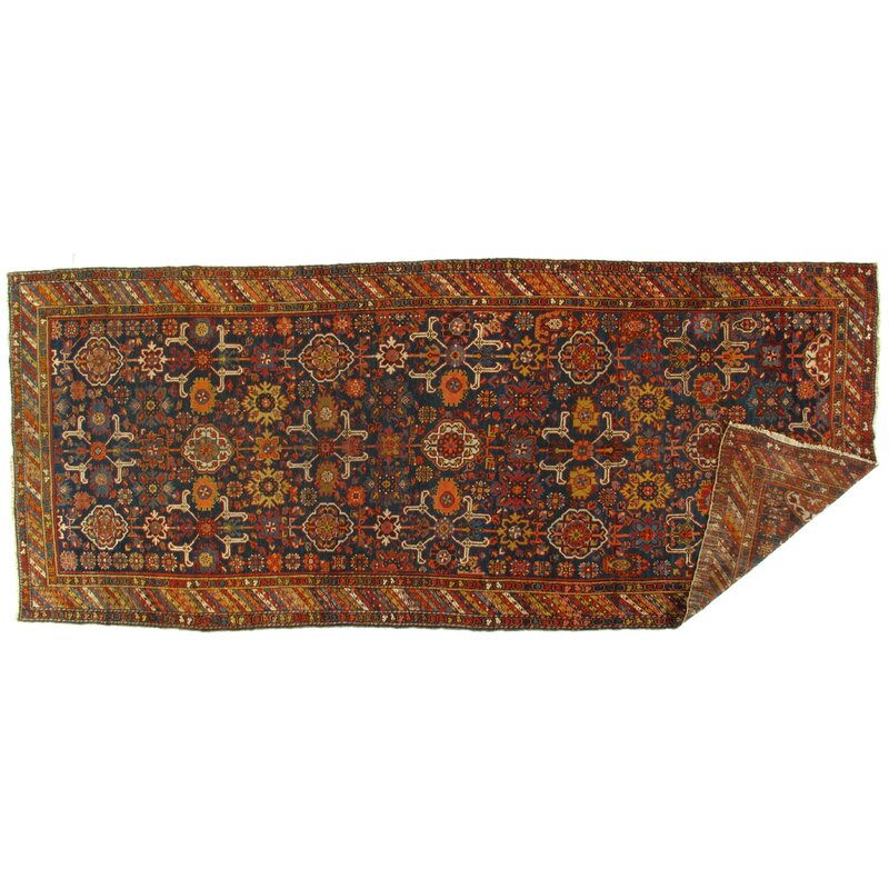 Bloomsbury Market One Of A Kind Hamer Hand Knotted 1910s Yellow Brown 5 6 X 13 1 Wool Area Rug Wayfair