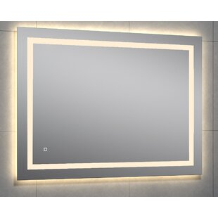 Great Price Kali Rectangle LED Wall Mirror By Orren Ellis