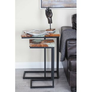 Affordable Oritz 2 Piece Nesting Tables by Union Rustic