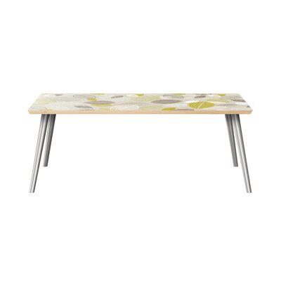 Richart Coffee Table Brayden Studio Table Top Boarder Color: Natural, Table Base Color: Chrome, Table Top Color: Green/Brown