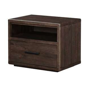 Overby Wooden 1 Drawer Nightstand by Williston Forge