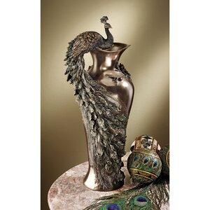 Peacock Centerpiece Sculptural Vase