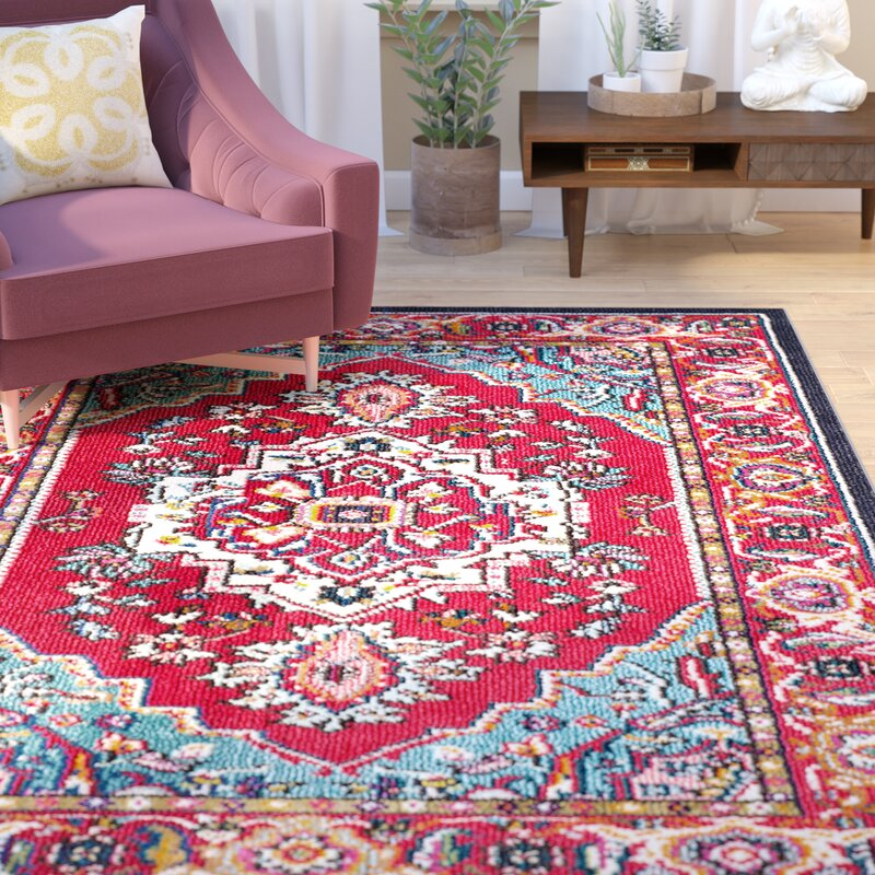 World Menagerie Ward Red Area Rug & Reviews   Wayfair