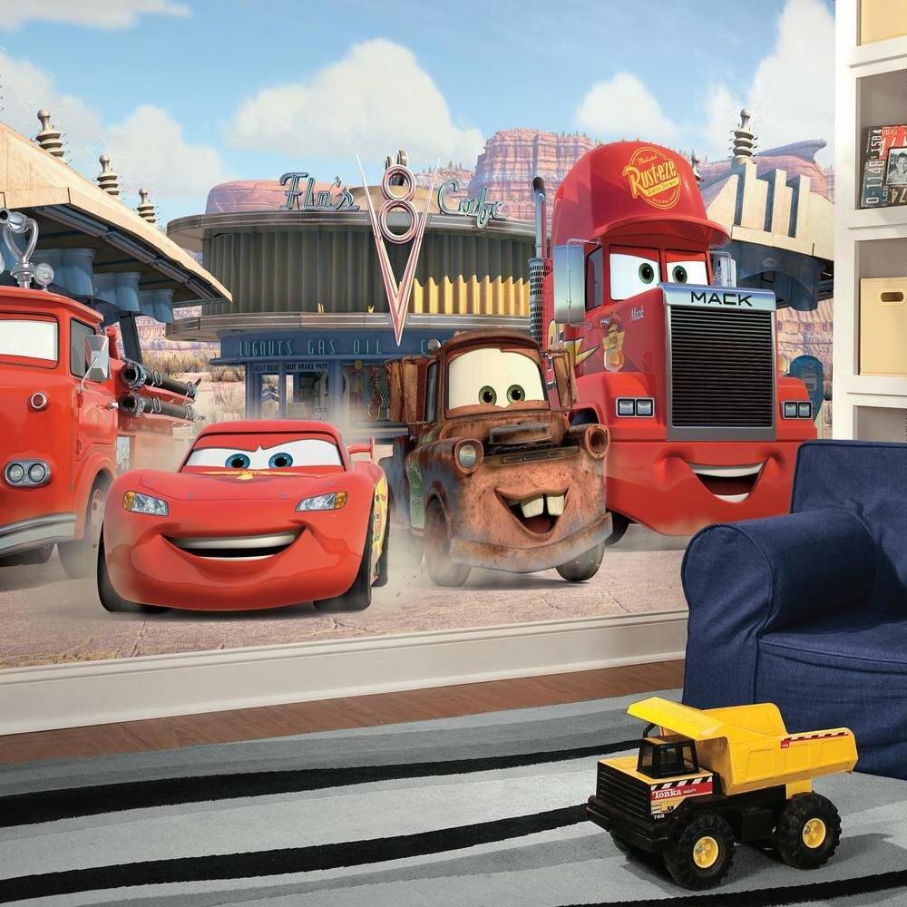 York Wallcoverings Walt Disney Kids Ii Disney Cars Friends Finish Xl Wall Mural Reviews Wayfair