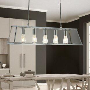 Kitchen island pendants wayfair voyager 5 light kitchen island pendant aloadofball Images