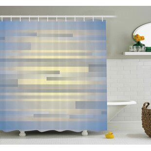 Best Enrique Long Striped Forms Shower Curtain ByEbern Designs