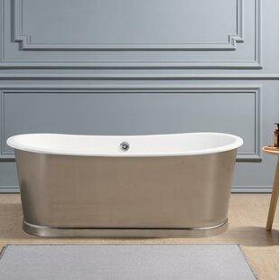 Cast Iron 67 x 30 Freestanding Soaking Bathtub by Streamline Bath