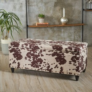 Gore Velvet Storage Ottoman by Union Rustic