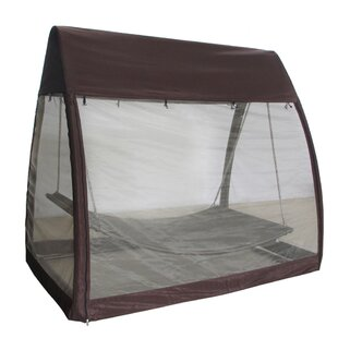 Outdoor Arched Canopy Cover Hanging Swing Polyester Hammock with Stand
