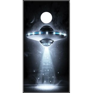 Lightning Cornhole Alien Space Ship Cornhole Board