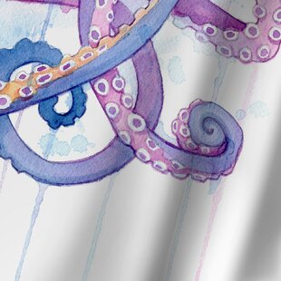 Sam Nagel Octopus Ii Single Shower Curtain