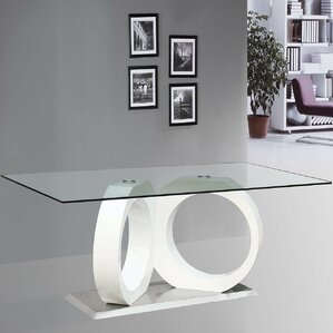 Modern Glass Dining Table by BestMasterFurniture