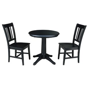Shullsburg 3 Piece Solid Wood Dining Set Canora Grey