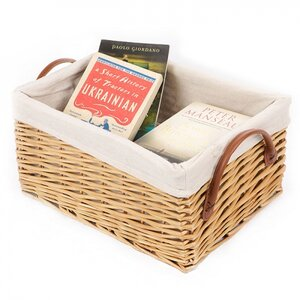 Lined Willow Storage Basket
